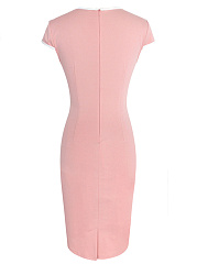 Women Sexy Contrast Trim Bodycon Dress