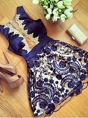 Round-Neck-Polyester-Evening-Dresses