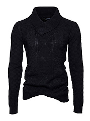 V-Neck Plain Men'S Sweater