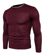Round-Neck-Contrast-Trim-Mene28099S-Sweater