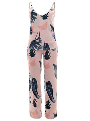 Special Printed Camisole And Straight Pants