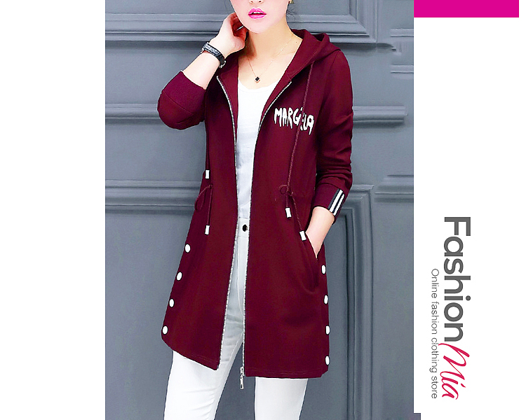material:blend, collar&neckline:hooded, sleeve:long sleeve, embellishment:drawstring*slit pocket, pattern_type:letters, occasion:casual, season:autumn*spring, package_included:top*1, length:76,shoulder:38,sleeve length:58,bust:96,