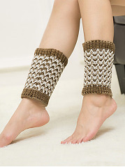 Color Block Knitting Boots Short Leg Warmers