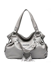 Decortive Metal Plain Hand Bags For Women