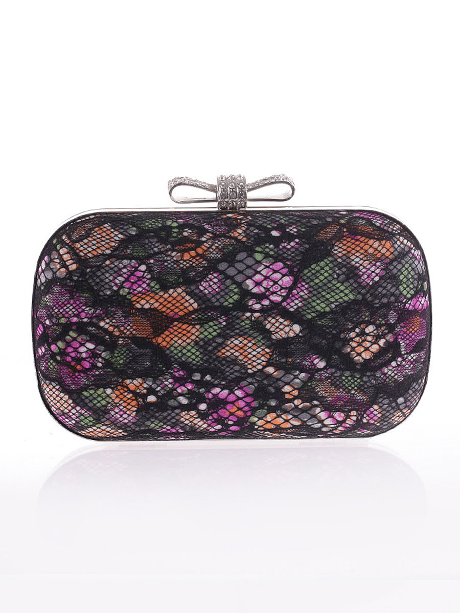 Hollow Out Lace Floral Evening Clutch Bag