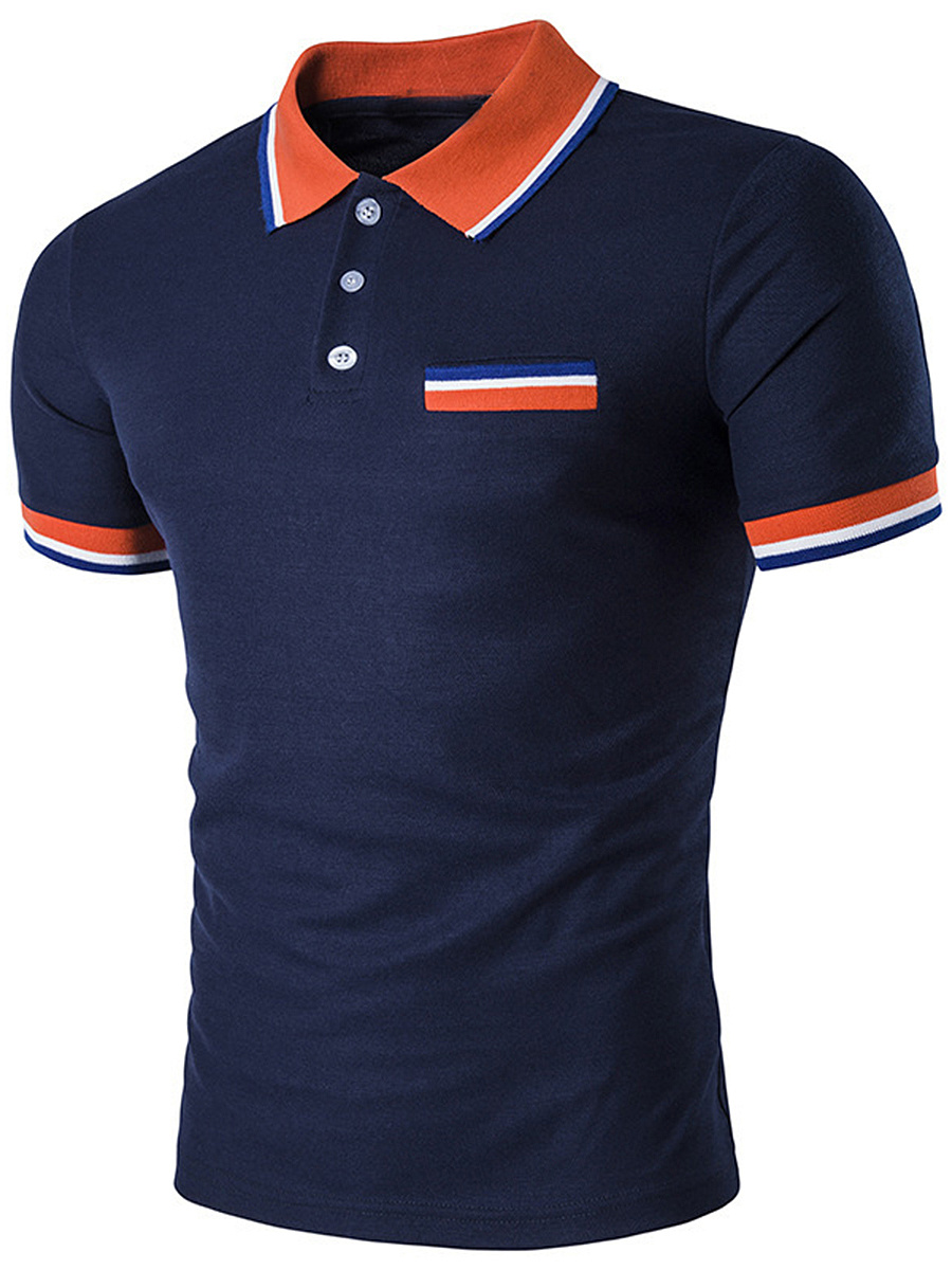 Polo Collar Striped T-Shirt