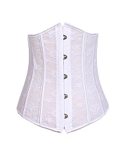 Women Sexy Body Shapers Lace Bustiers 5 Steel Bones Waist Trimmer Corsets
