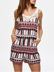 Slit-Pocket-Hollow-Out-Printed-Romper
