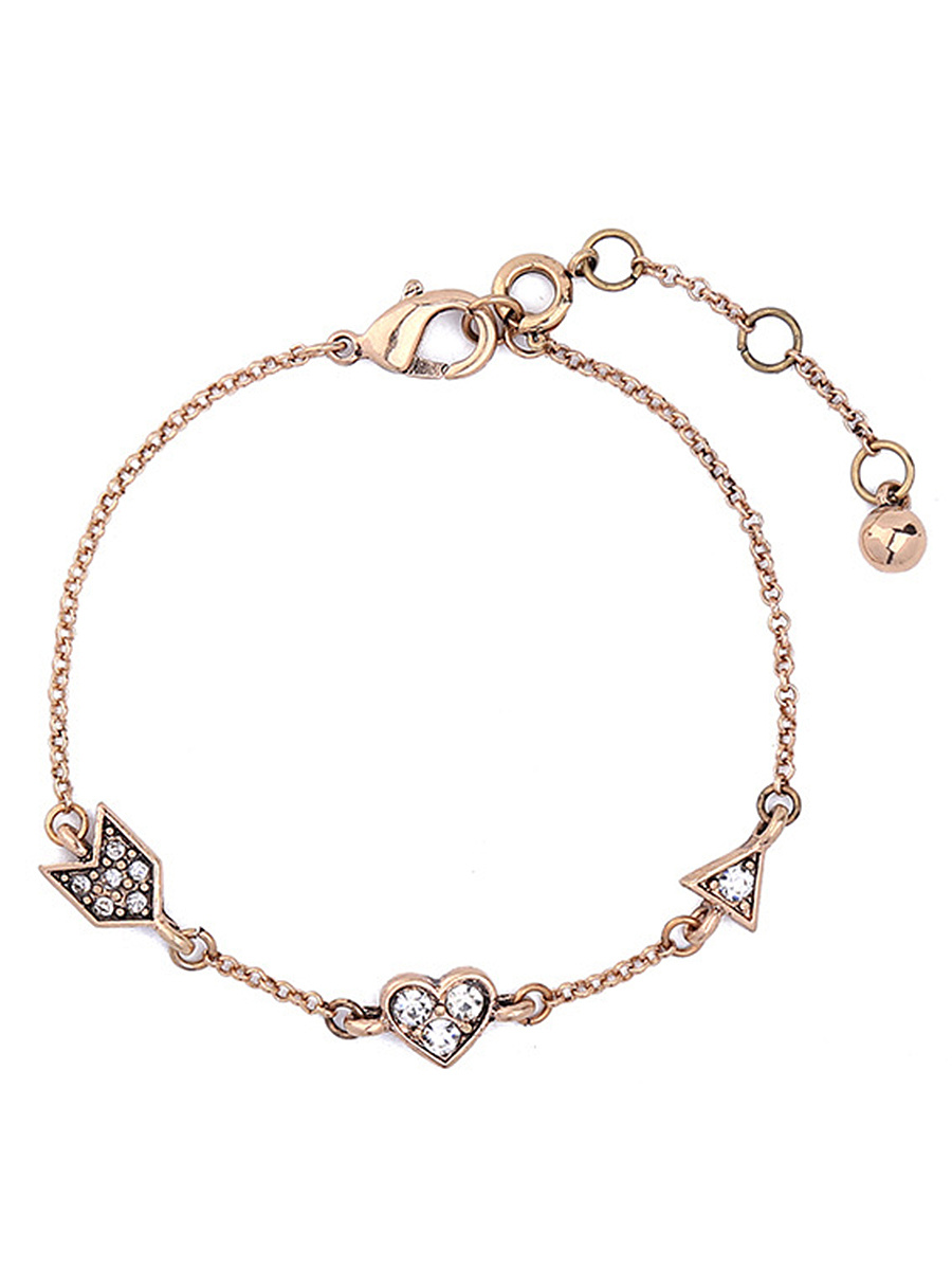 Rhinestone Chain Adjustable Bracelet