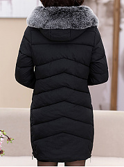 Hooded Pocket Quilted Padded Coat