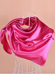 The New Single Color  Satin  Cubes Scarf