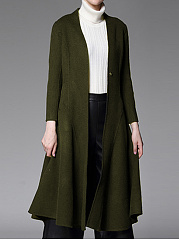 Slit Pocket  Plain Coats