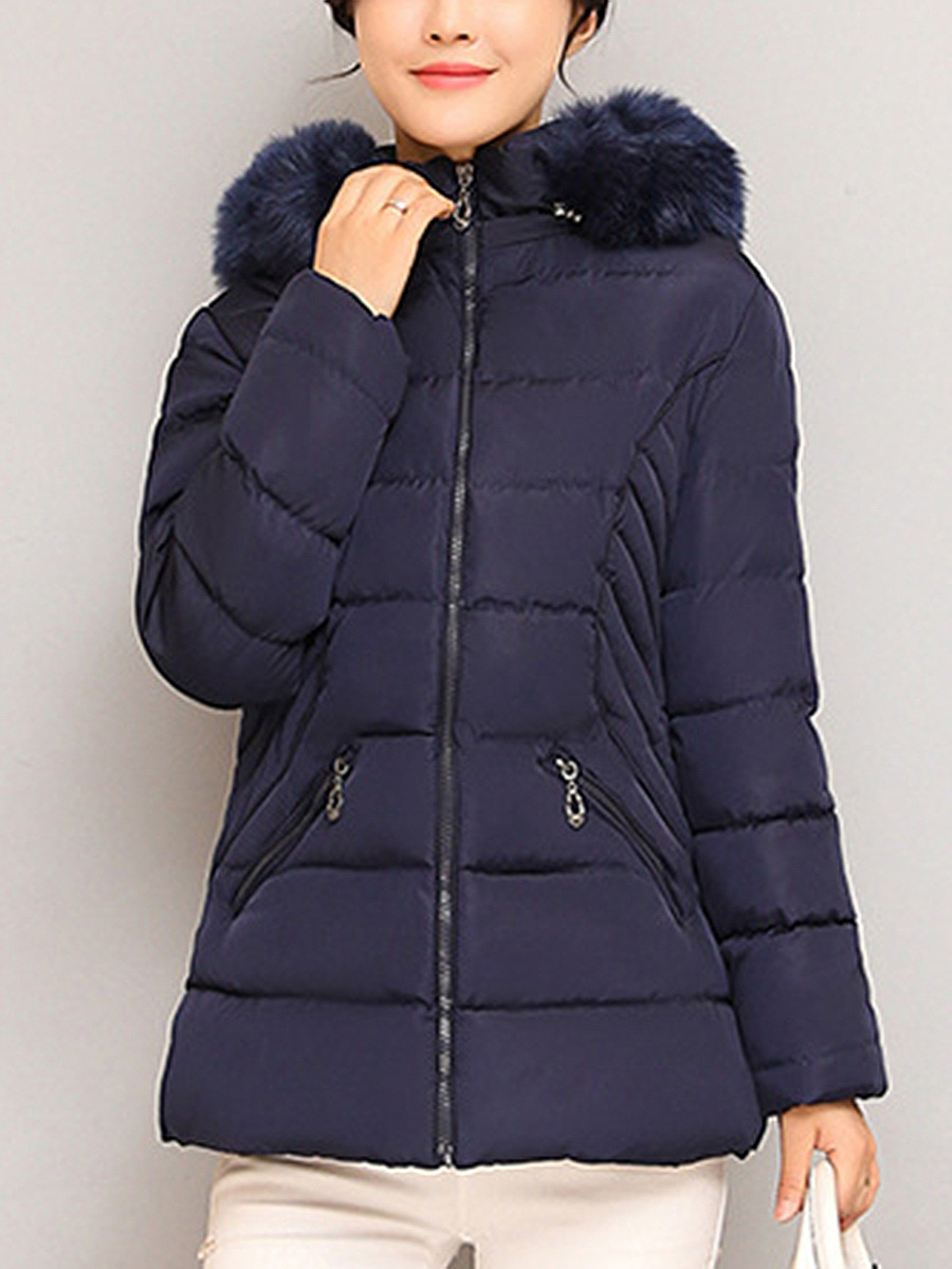 Hooded Plain Pocket Quilted Padded Coat - fashionMia.com : quilted padded coat - Adamdwight.com