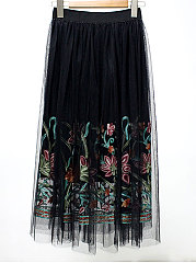 Lightweight  Bohemian  A-Line Knee-Length Skirts For Women