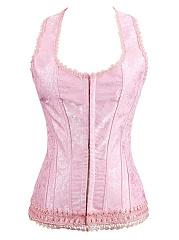 Pink-Lace-Underwear-Slimming-Corset