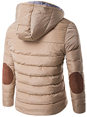 Hooded Pocket  Quilted Men Padded Coat