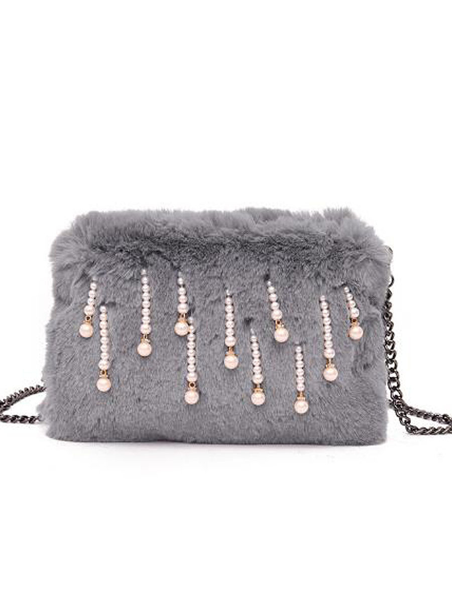 Fashion  Style Faux Fur Crossbody Bag