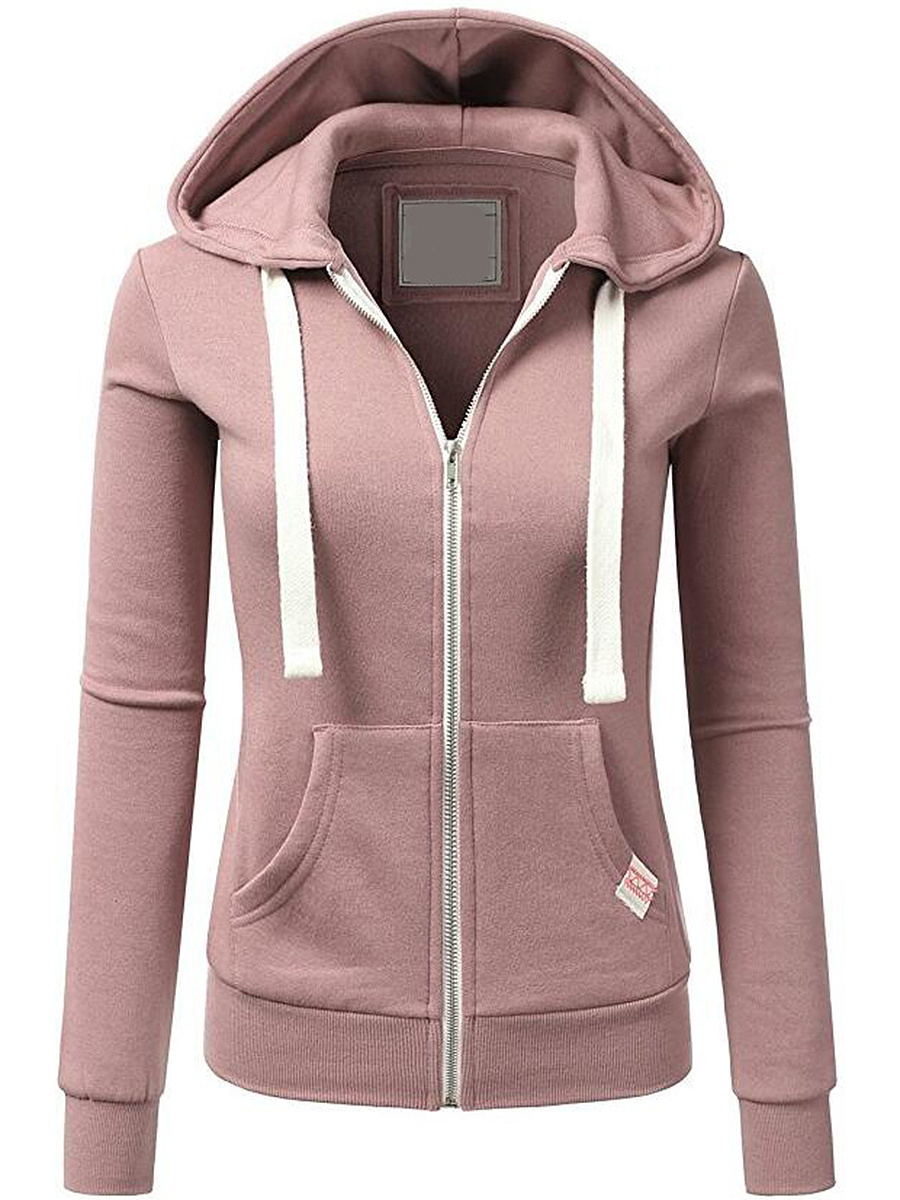 Contrast Drawstring Patch Pocket Hoodie