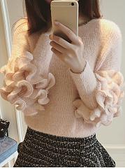 Round-Neck-Flounce-Plain-Sweater