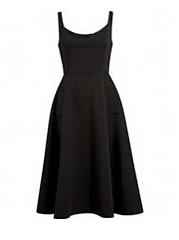 Square-Neck-Plain-Blend-Evening-Dresses
