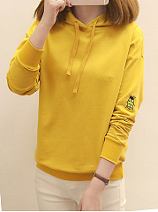 Autumn Spring  Cotton Blend  Plain  Raglan Sleeve  Long Sleeve Hoodies