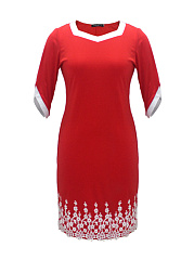 Square Neck  Lace Plain Plus Size Bodycon Dresses