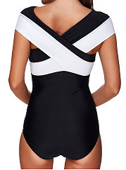 Color Block One Piece For Women