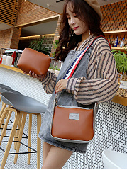 Color Block Two Pieces Shoulder Bag
