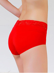Sexy Lace-Trim Fibroin Health Body Fitness Panties