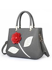 Elegant-Solide-Floral-Decoration-Simple-Stylish-Hang-Bag