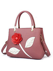 Elegant Solide Floral  Decoration Simple Stylish Hang Bag