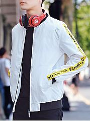 Band-Collar-Pocket-Letters-Printed-Men-Bomber-Jacket