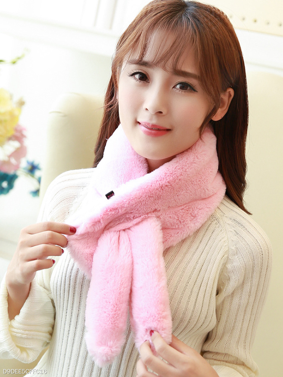New Fashion All-Match Rabbit Ears Faux Fur Wrap Collar Shawl