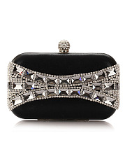 Geometric Crystal Evening Clutch Bag