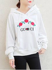 Oversized Embroidery Floral Hoodie