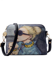 Mistery Beauty Print Crossbody Bag
