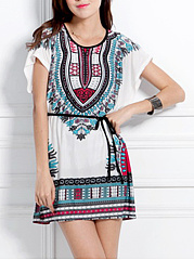 Loose-Round-Neck-Printed-Tunic