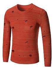 Distressed-Round-Neck-Plain-Mene28099S-Sweater
