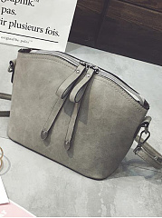Retro Style Scrub Zipper Shellbag Shoulder Bag
