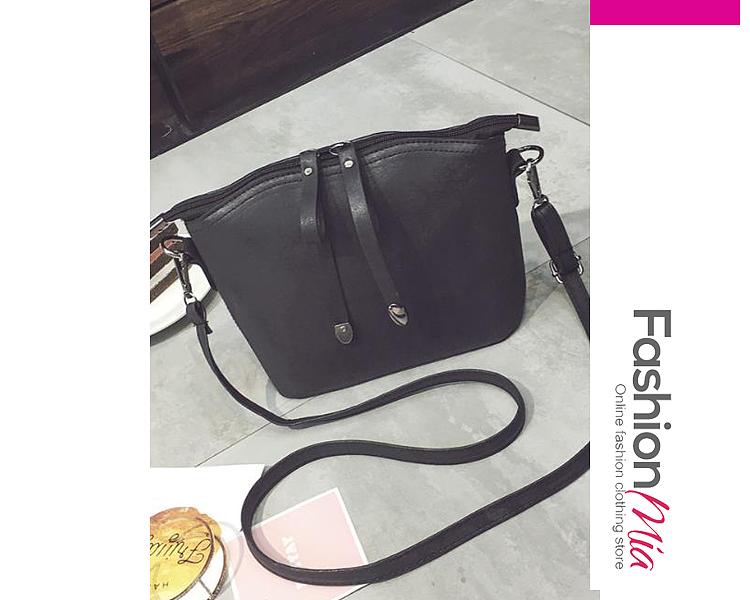 Image of Retro Style Scrub Zipper Shellbag Shoulder Bag