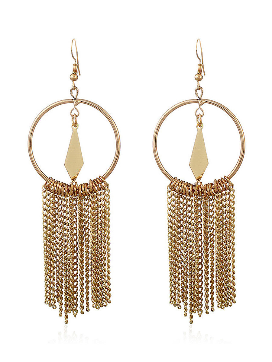 New Style Chic Fringe Long Earrings - fashionMia.com
