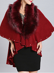 Collarless  Beading  Plain Cape