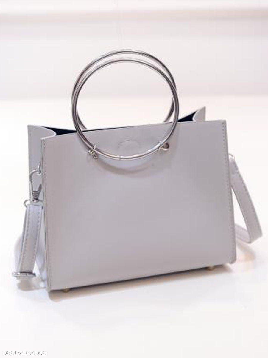 Fashion Circle Pendant Women Hand Bag