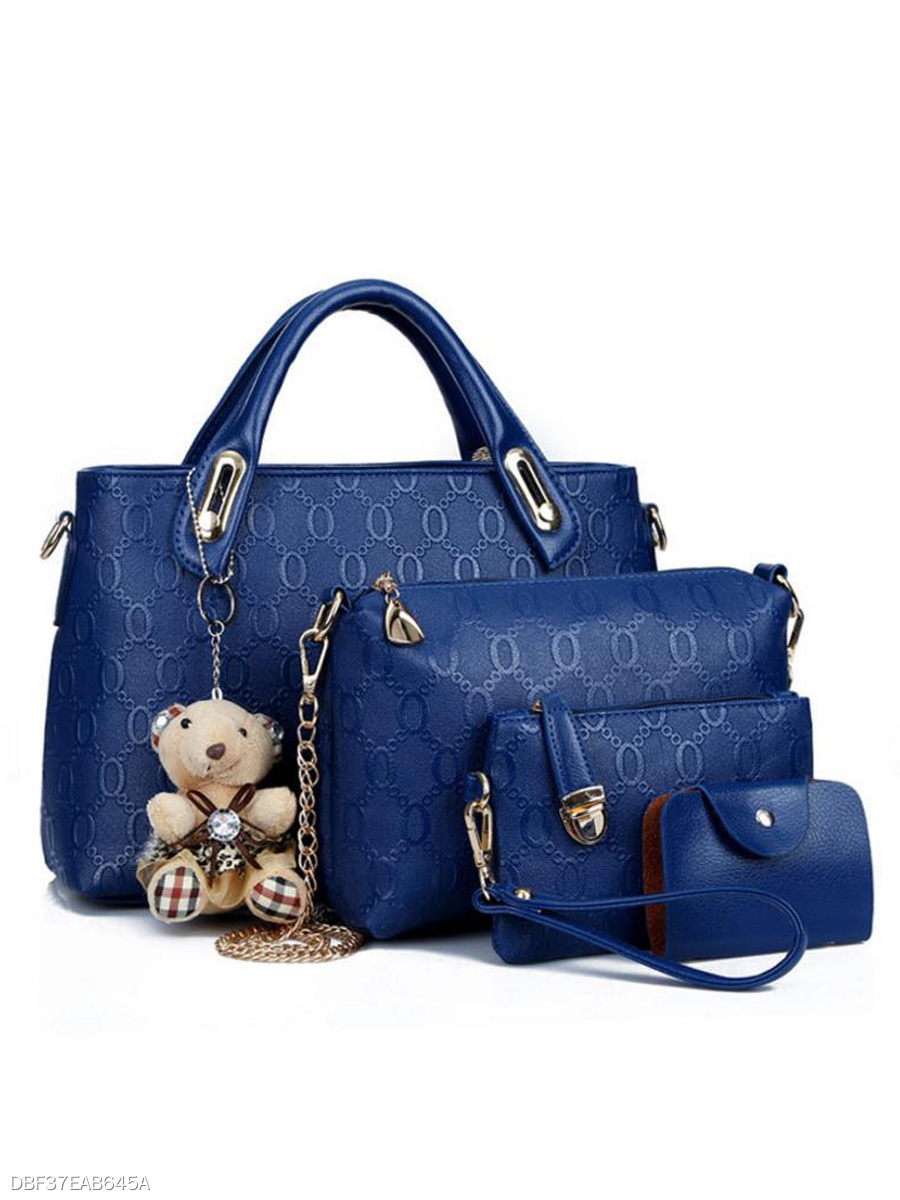 Graceful Little Bear  Fashion PU Women Bag Set (4 Pieces)