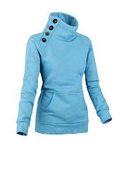 Designed-Plain-High-Neck-Kangaroo-Pocket-Single-Breasted-Sweatshirt