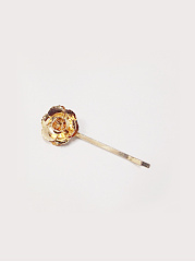 Gold Rose Long Hair Clip