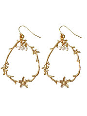 Faux Pearl Elegant Earrings For Women