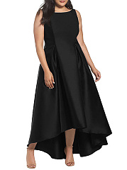 Plain Plus Size Midi & Maxi Dresses