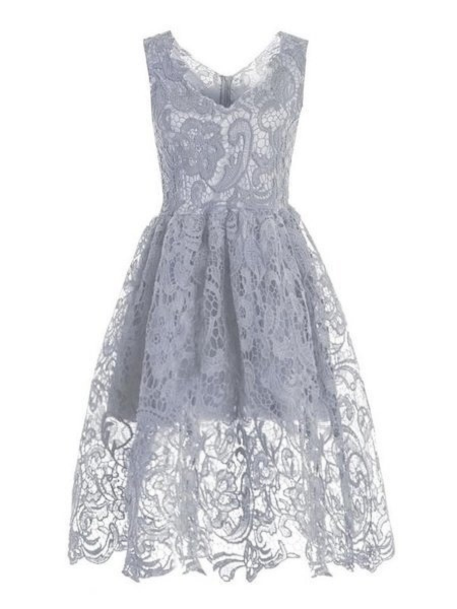 Stunning Sheer Lace Vintage Skater Dress