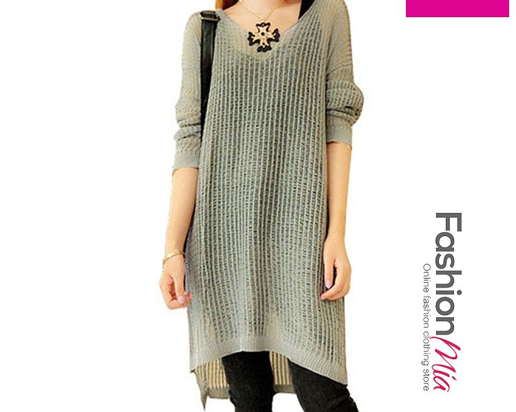gender:women, hooded:no, thickness:regular, brand_name:fashionmia, style:elegant*fashion*japan & korear, material:knit, collar&neckline:round neck, sleeve:long sleeve, embellishment:asymmetric hem, pattern_type:hollow out,plain, how_to_wash:cold  hand wash, occasion:basic,daily,date,office, season:autumn,spring,winter, package_included:top*1, back lengthfront length